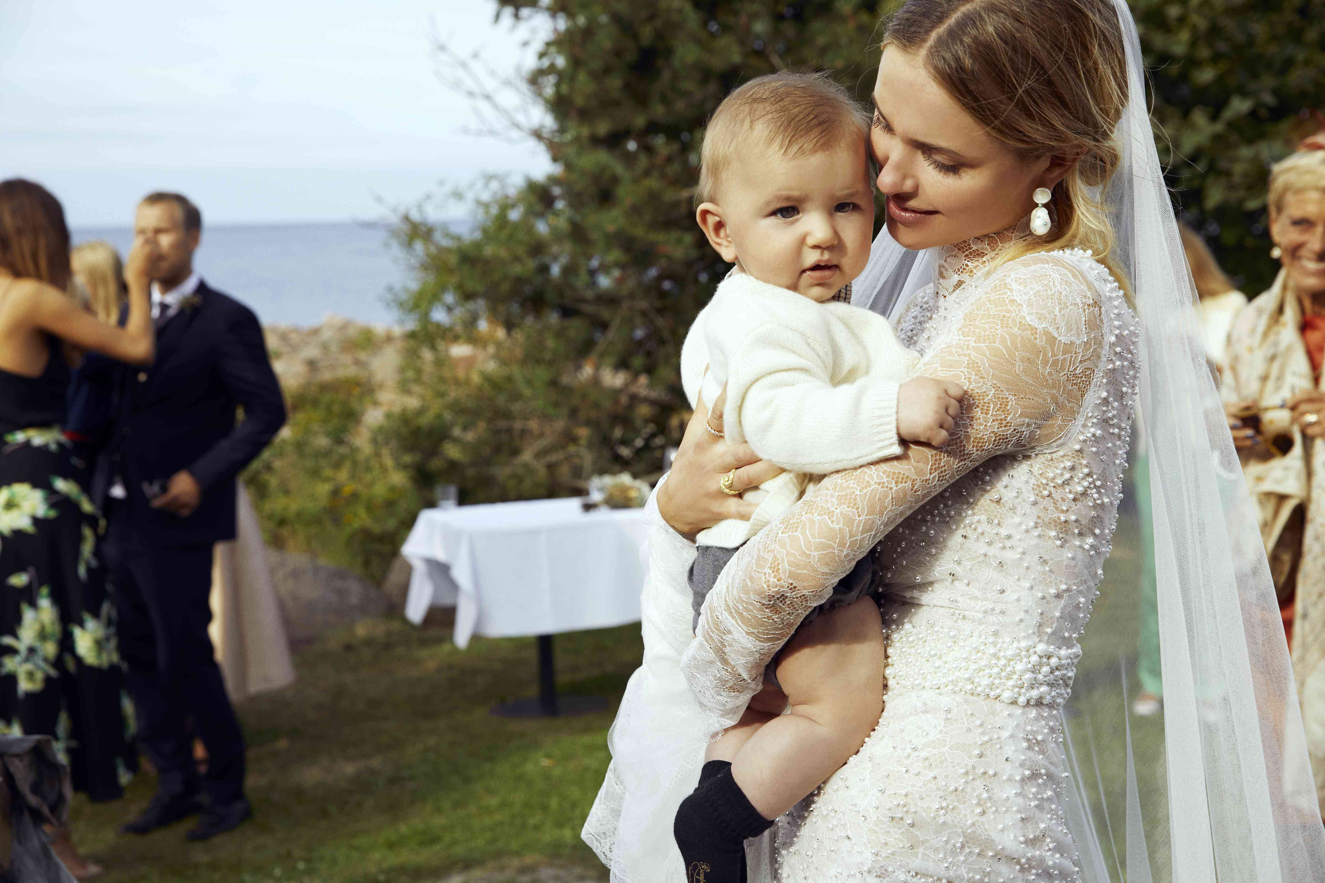 Bride with Baby