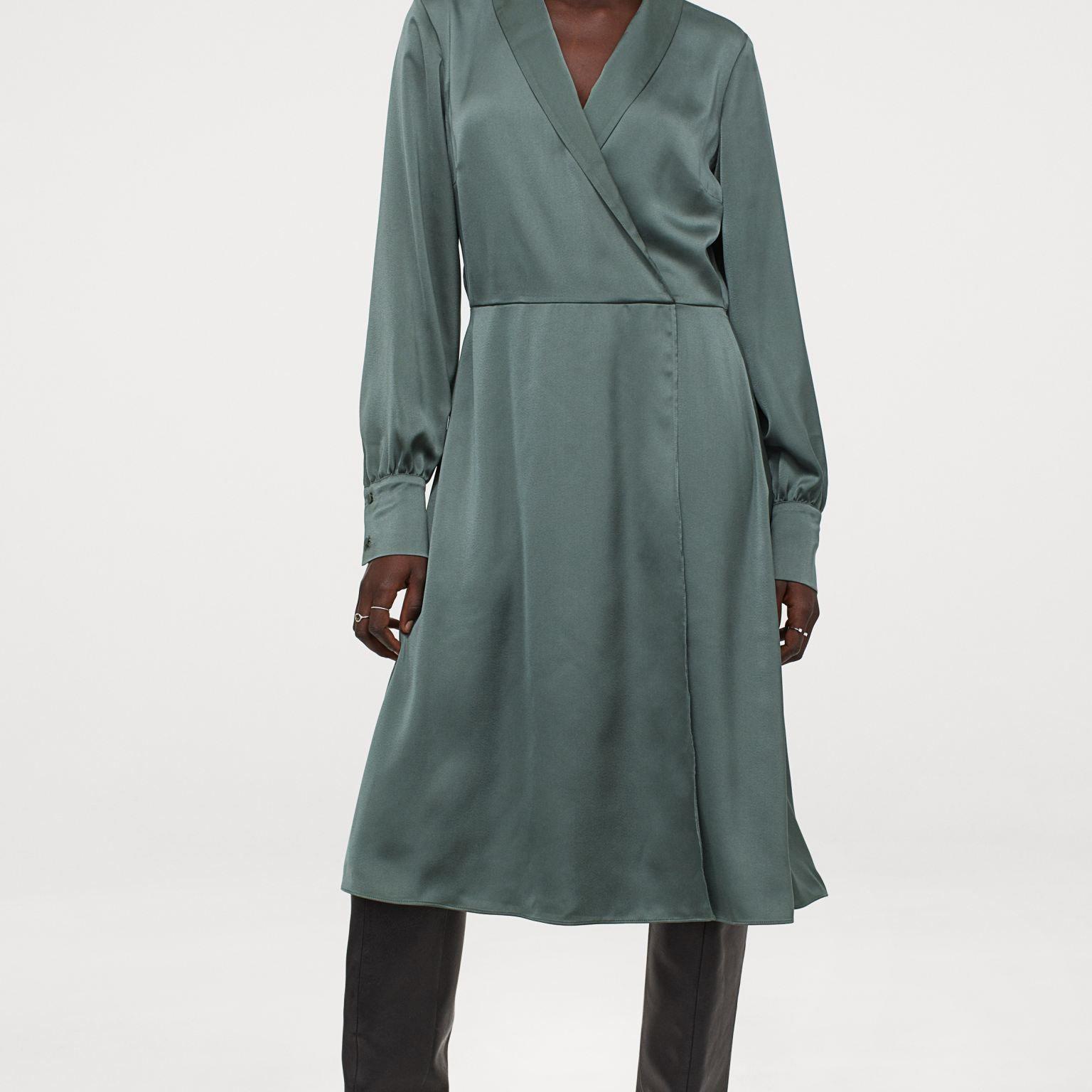 H&M Shawl-Collar Wrap Dress