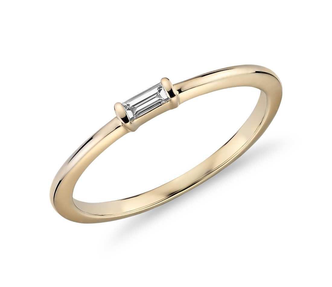Blue Nile Mini Baguette-Cut Diamond Fashion Ring