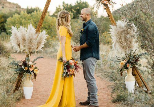 Golden Yellow Wedding Dress