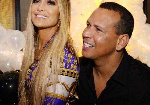 <p>Jennifer Lopez and Alex Rodriguez attend Jennifer Lopez's MTV VMA's Vanguard Award Celebration</p>