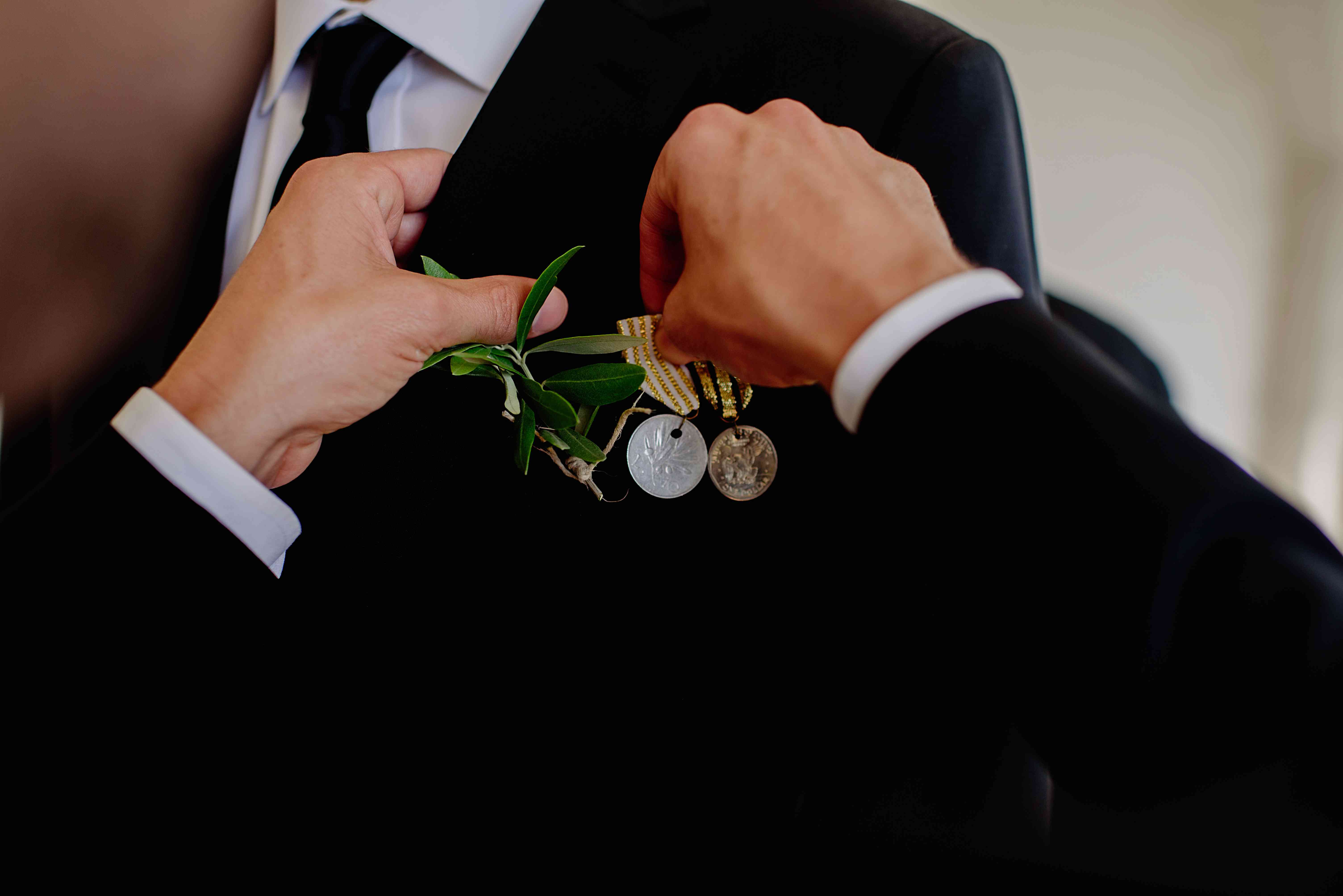<p>Grooms boutonniere</p><br><br>