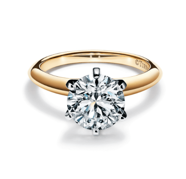 Tiffany & Co. The Tiffany® Setting Engagement Ring in 18k Yellow Gold