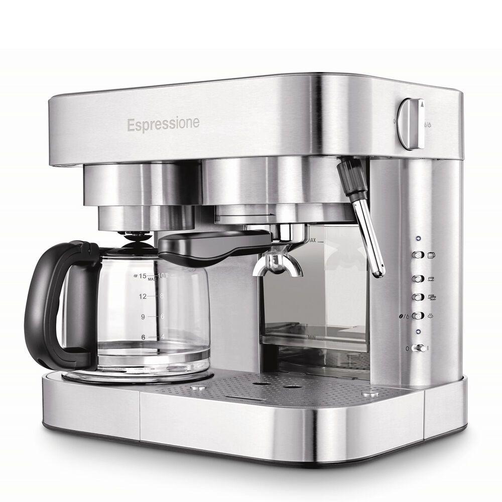 Espressione Combination Espresso Machine And Coffee Maker