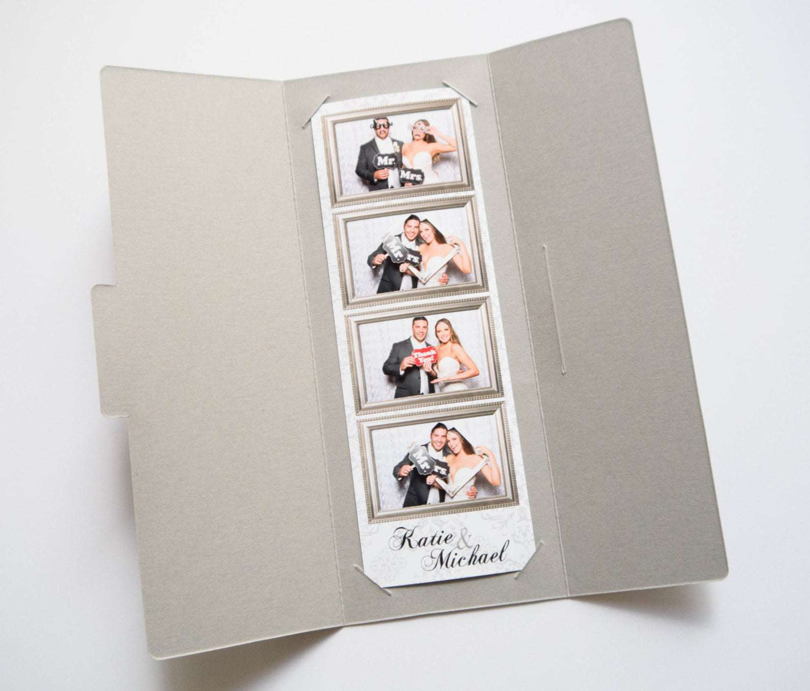 photo booth strip in envelope