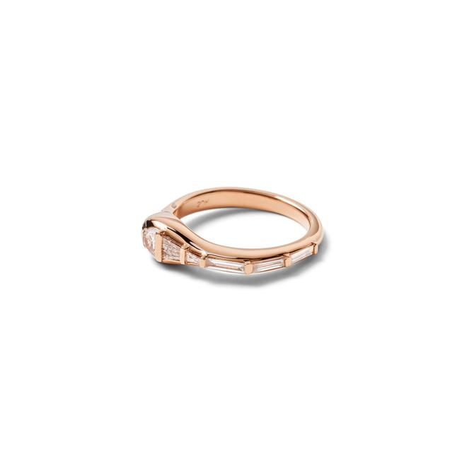 Nak Armstrong Rose Gold Wrap Ring With White Diamonds