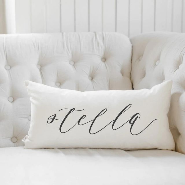 PCBHome Personalized Calligraphy Name Lumbar Pillow