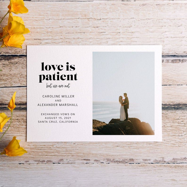 Dottie and Caro Love Is Patient But We Are Not Elopement Announcement