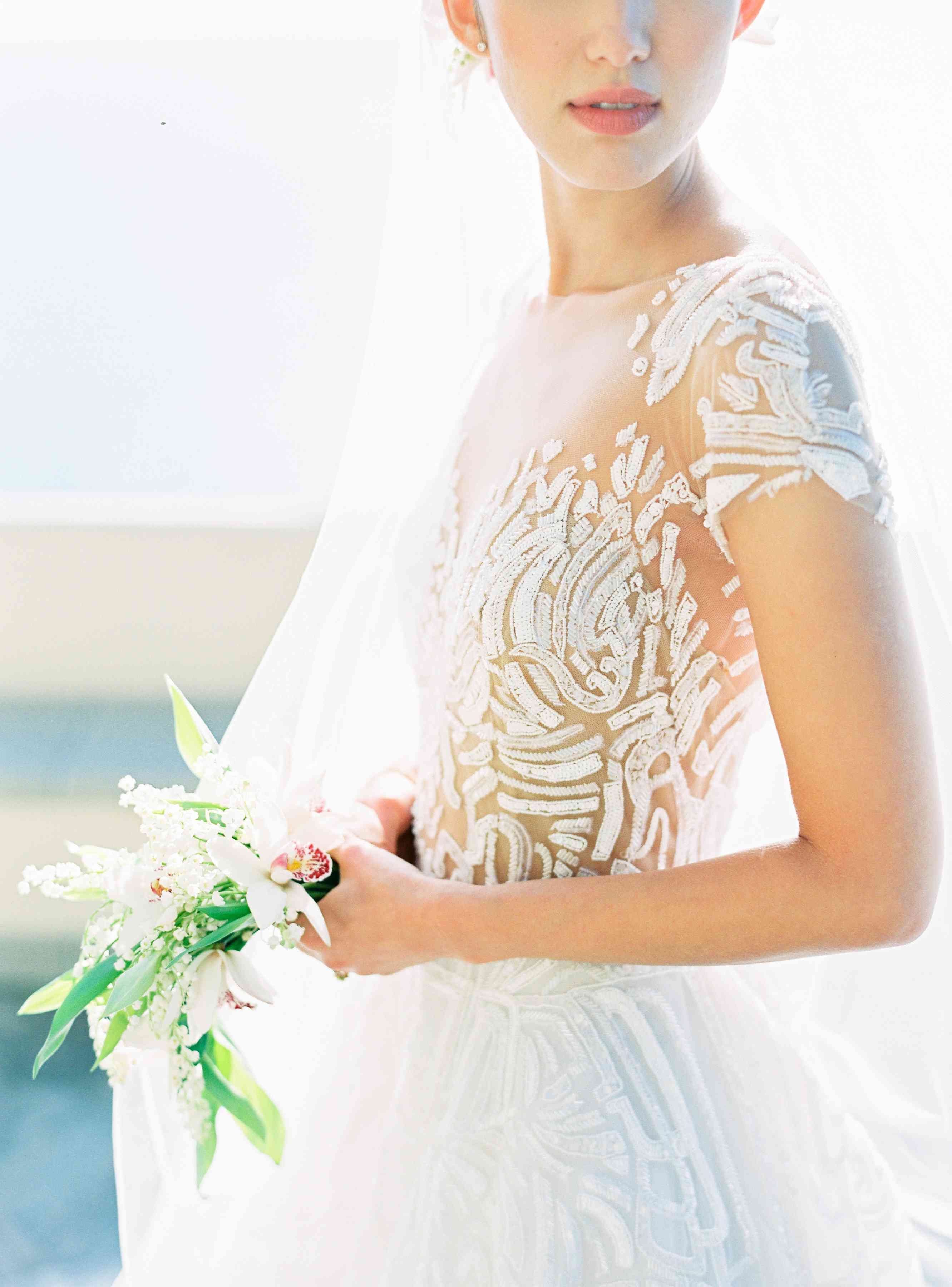 bride wedding dress detail