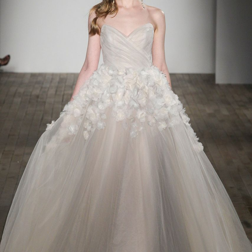 42 Wedding Dresses With Fresh Off The Runway Floral Details