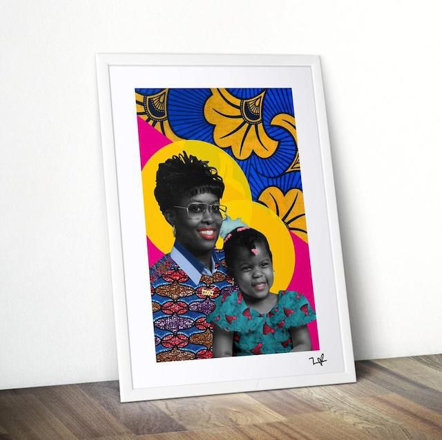 Etsy Custom Family Portrait by Frequency of Love