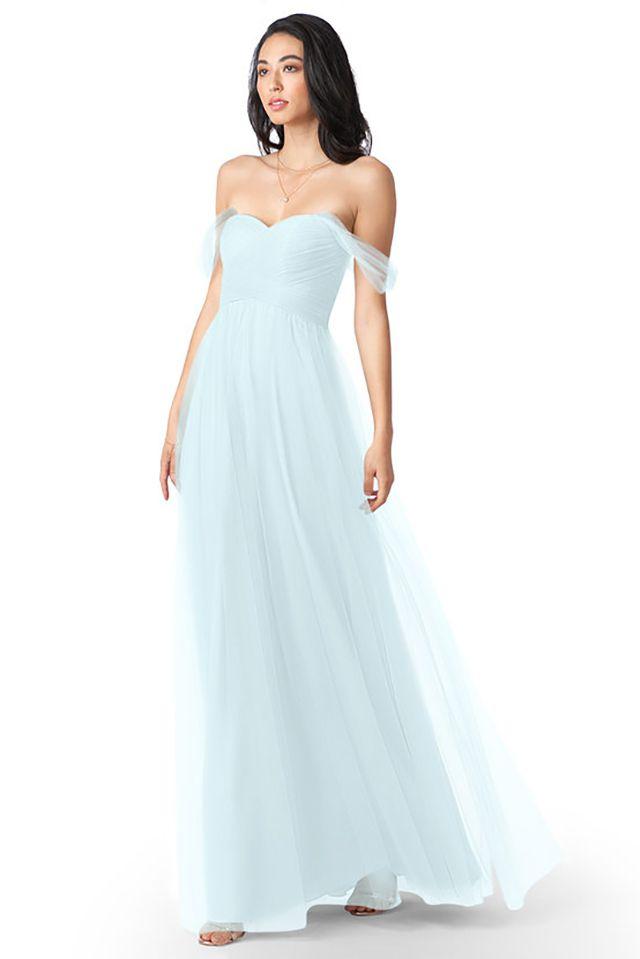 off-the-shoulder bridesmaid dress