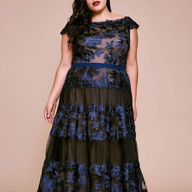 Tadashi Shoji Floral Embroidered Dress
