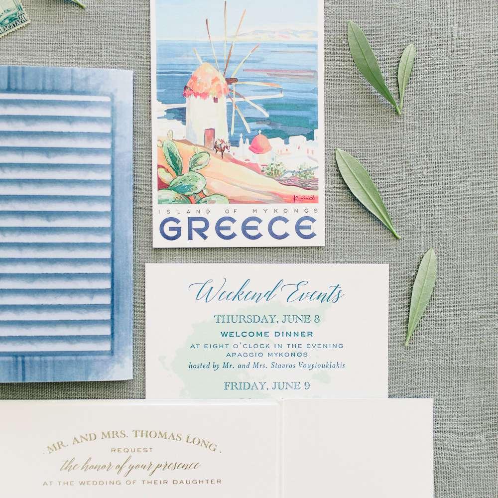 wedding weekend invitation suite