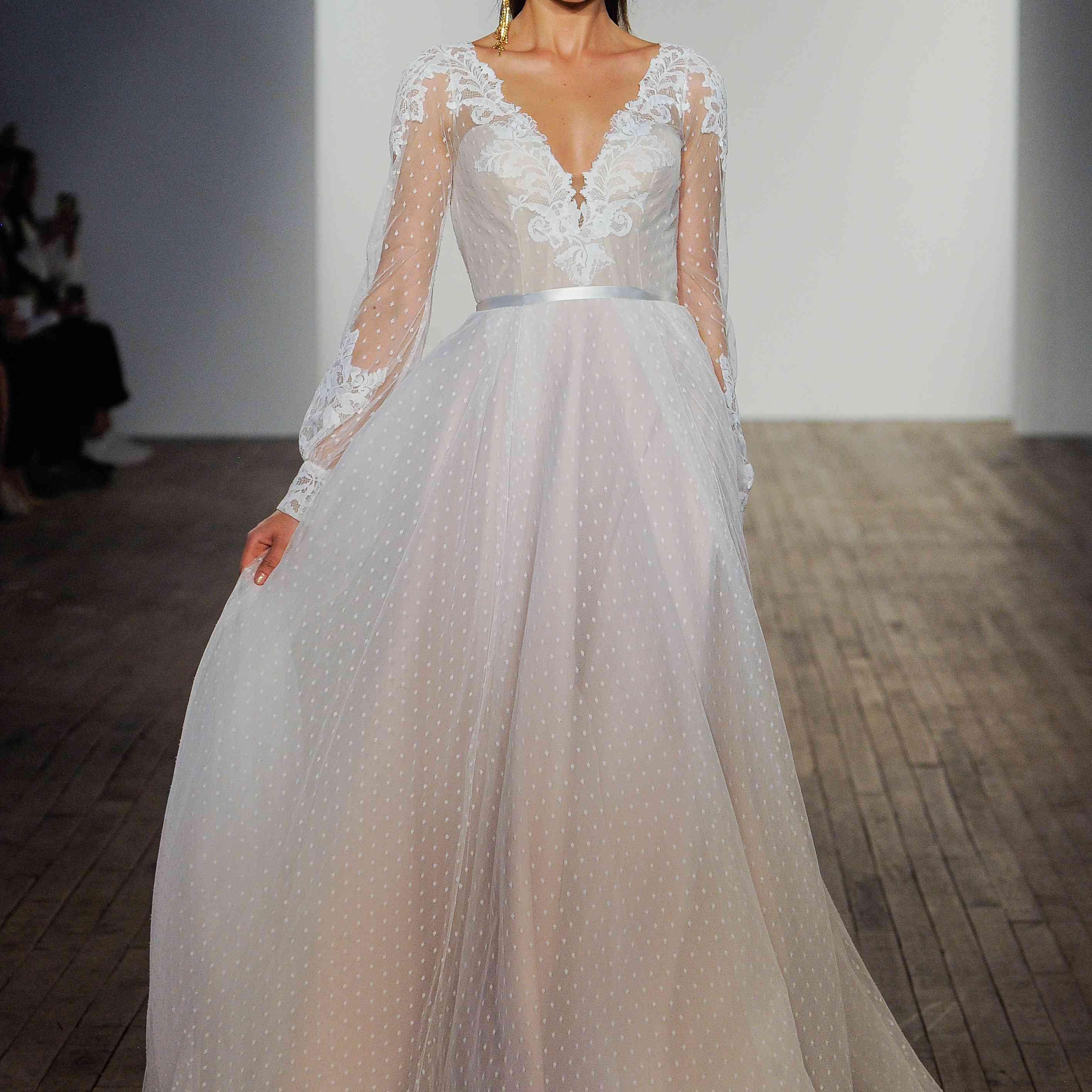 Indi long sleeve Blush by Hayley Paige Wedding Dress