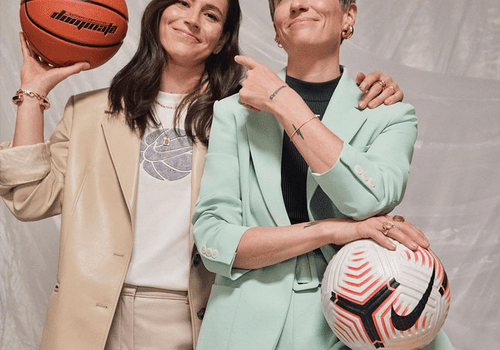 Megan Rapinoe and Sue Bird