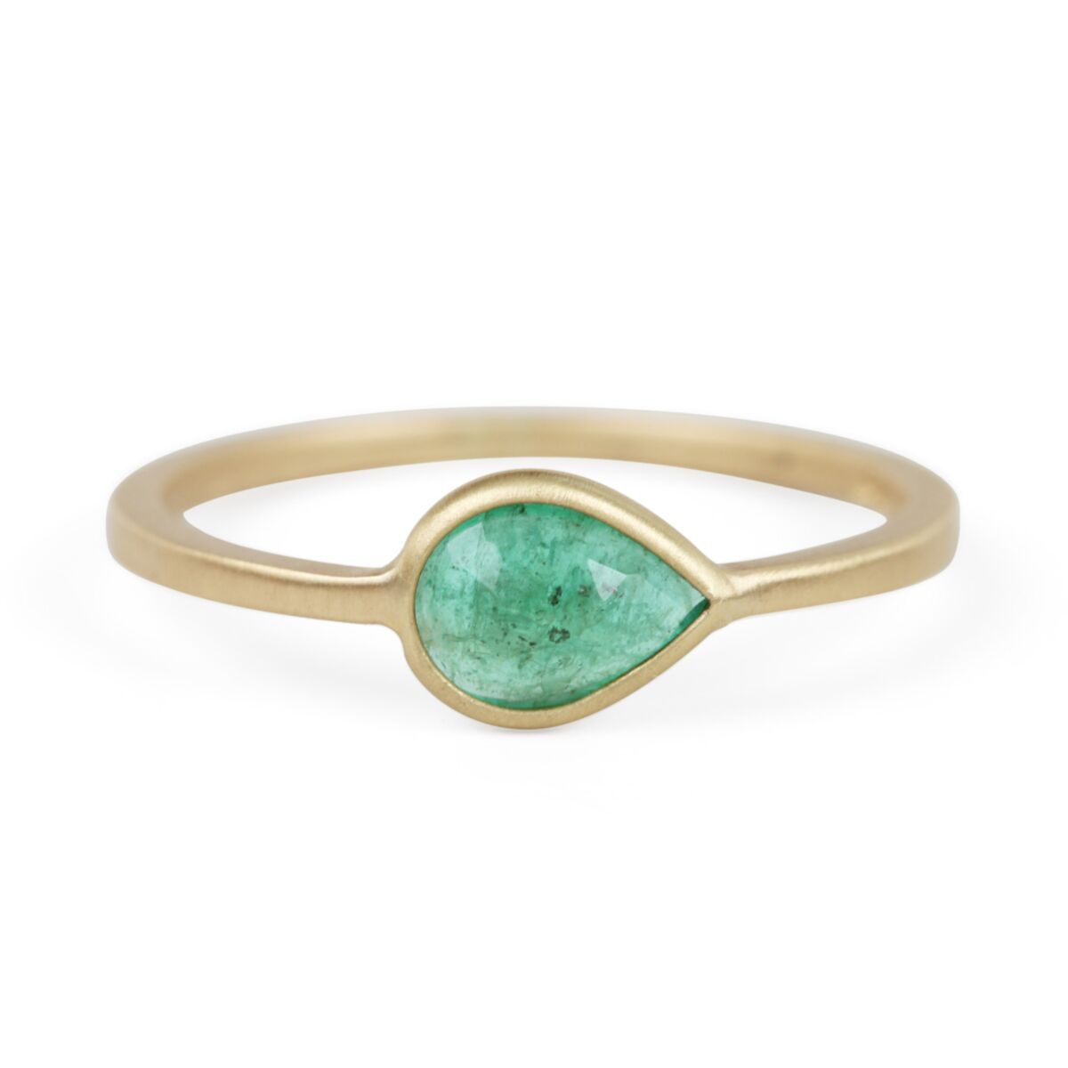 Gillian Conroy Pear Ring with Emerald