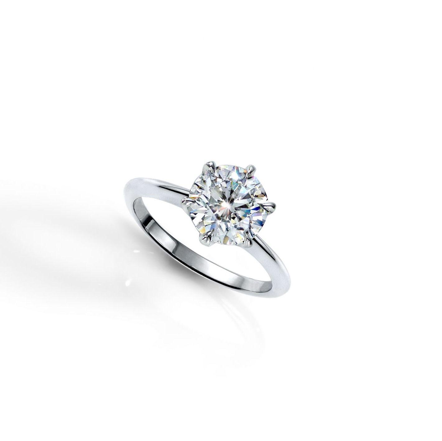 Lauren Addison Knife-Edge Brilliant-Cut Diamond Solitaire Ring