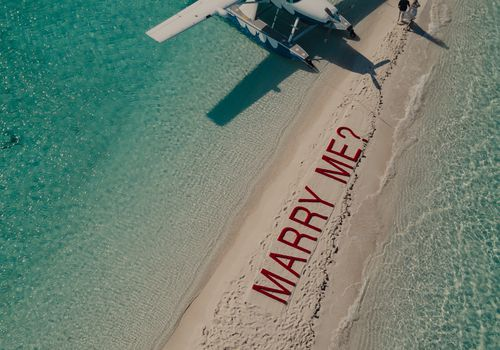 over the top marriage proposal
