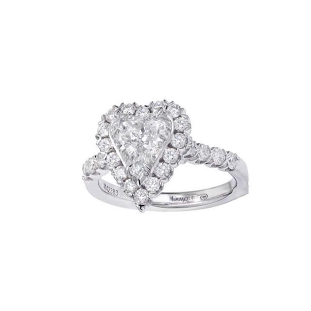 Christopher Designs Heart Shaped Diamond Engagement Rings