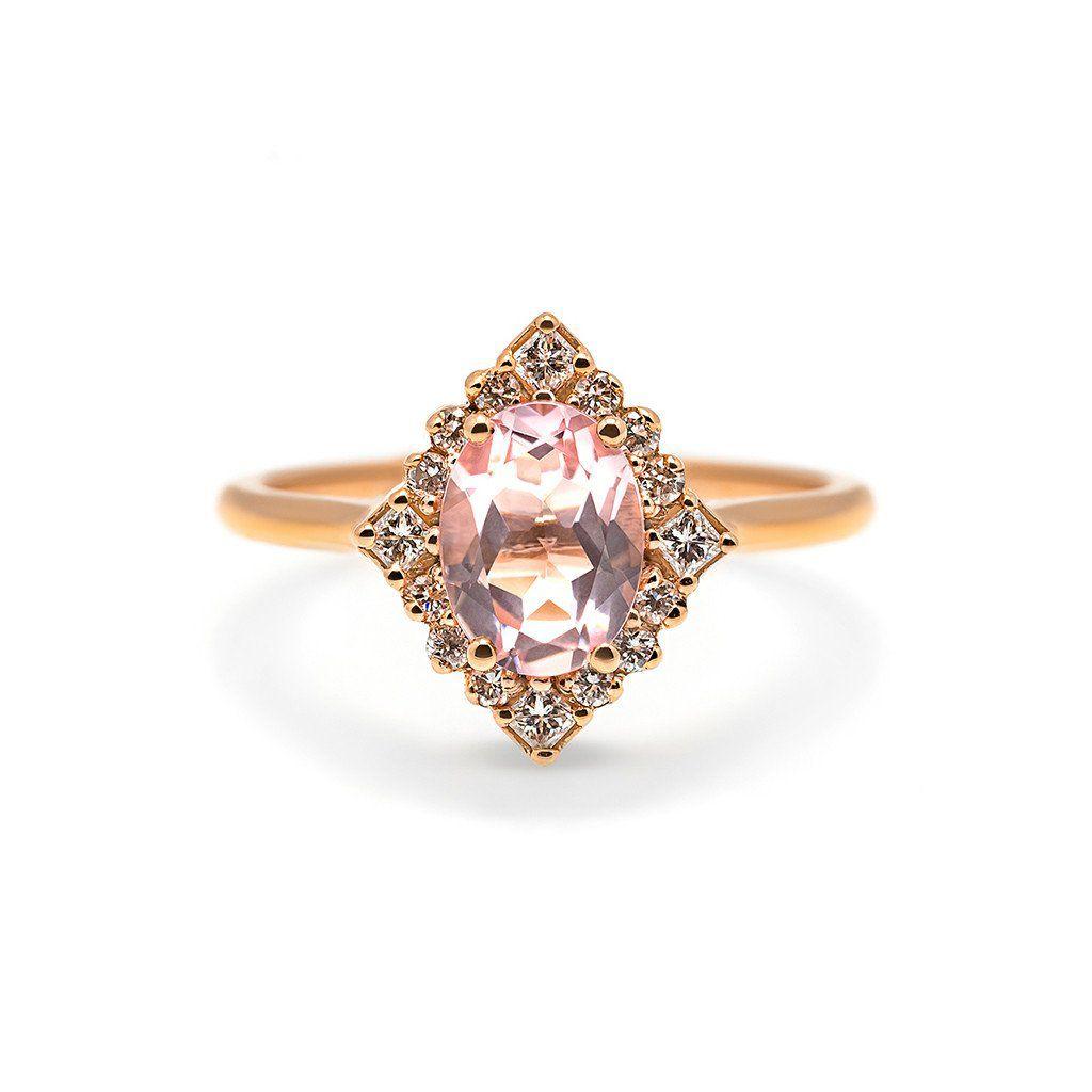 Vintage rose gold engagement rings