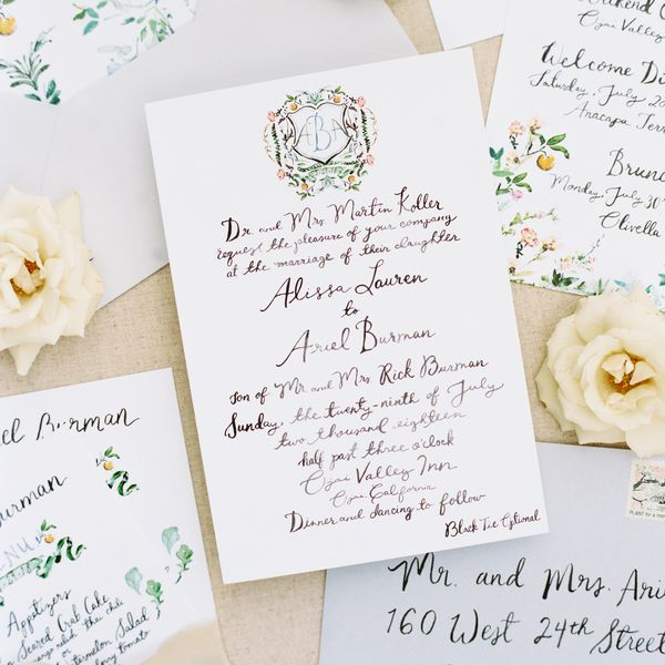 How To Address Wedding Invitations On Envelopes