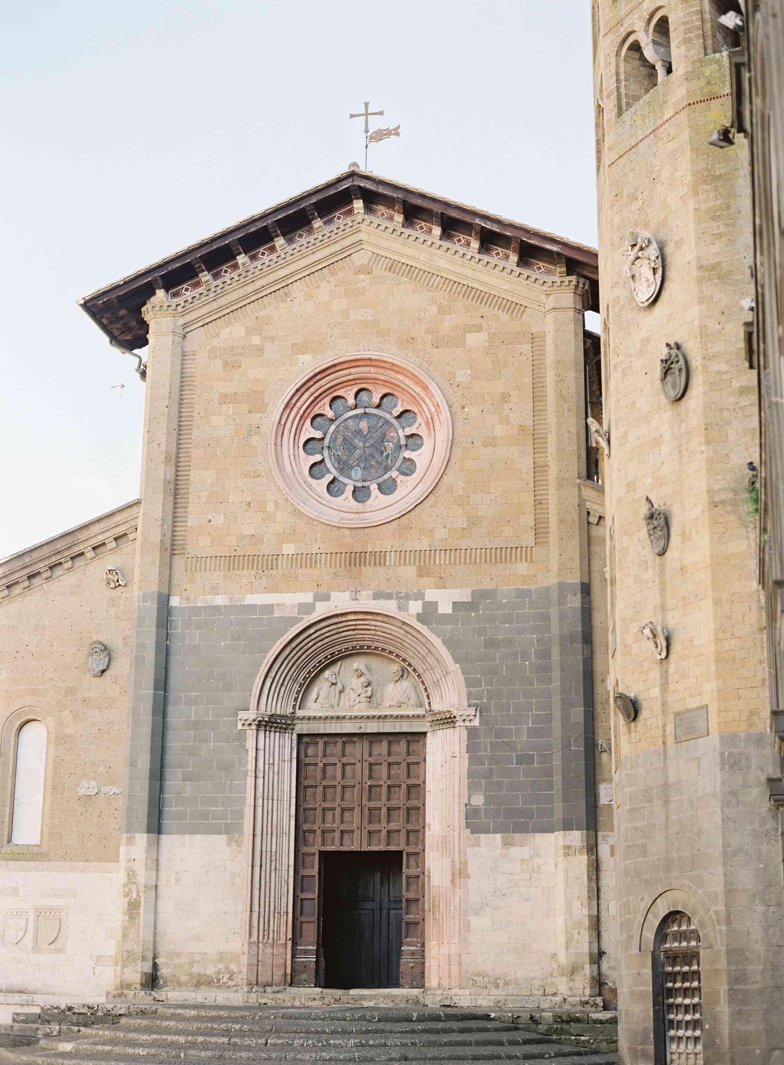 classic la badia italian wedding, italian church