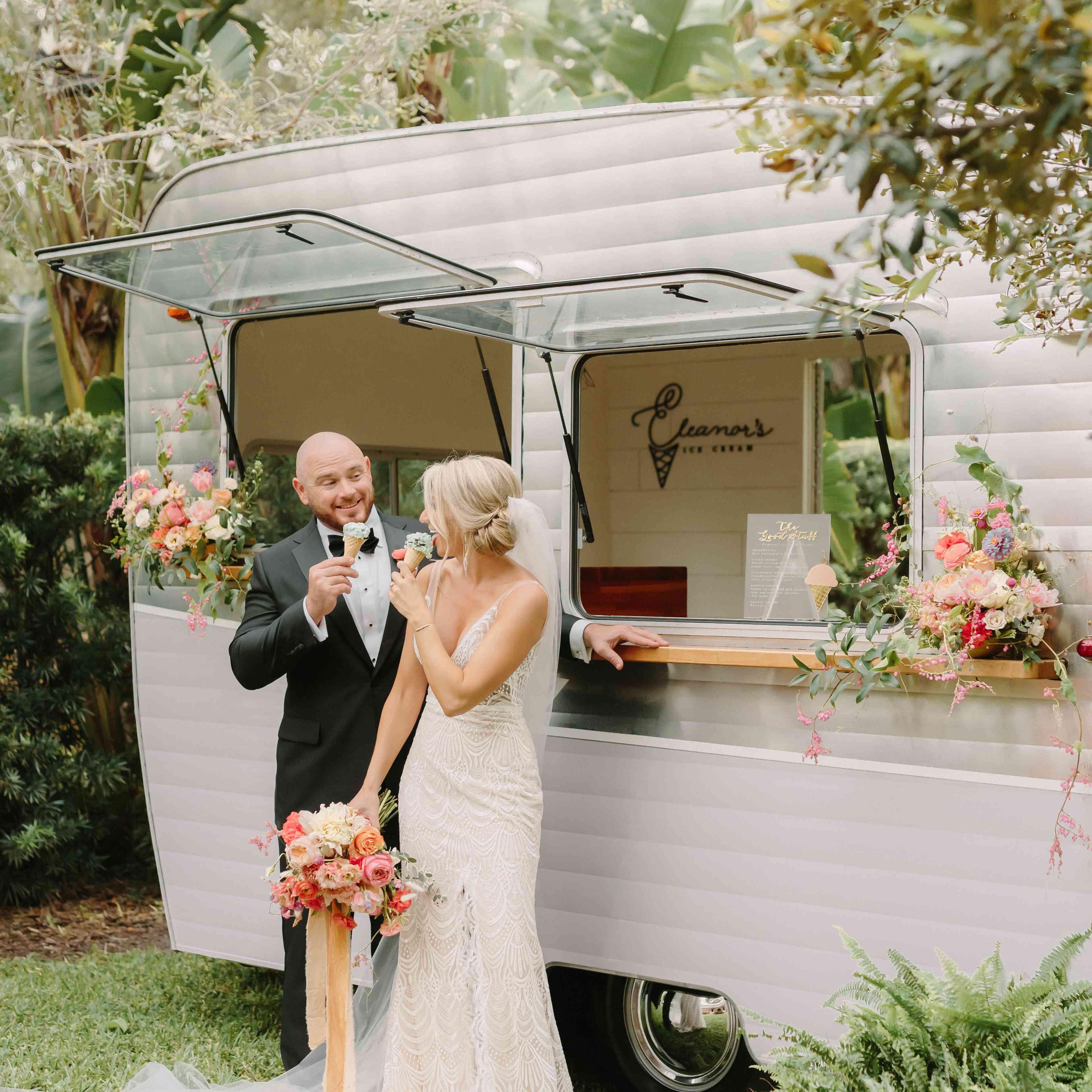 Wedding ice cream caravan