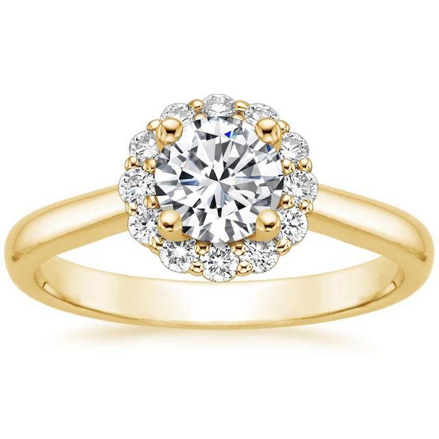 Brilliant Earth Lotus Flower Diamond Engagement Ring