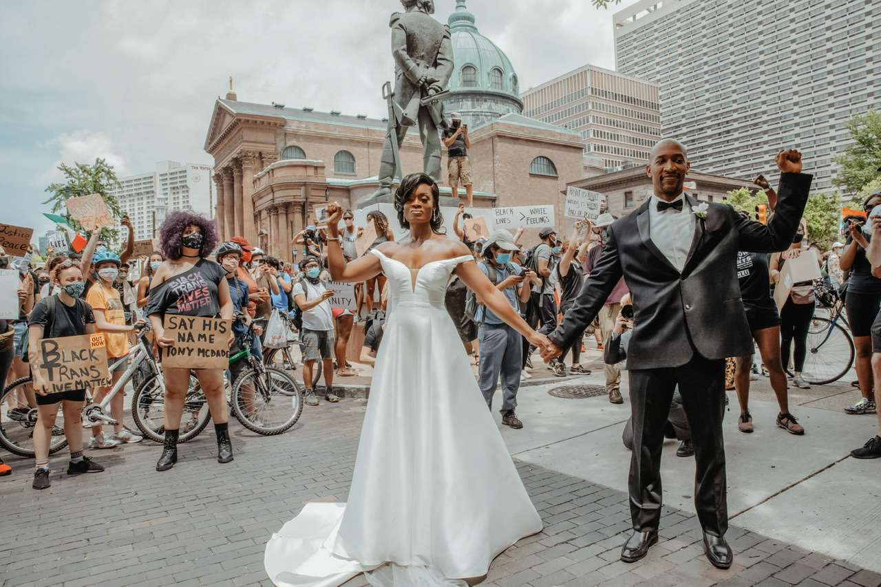 blm wedding photo