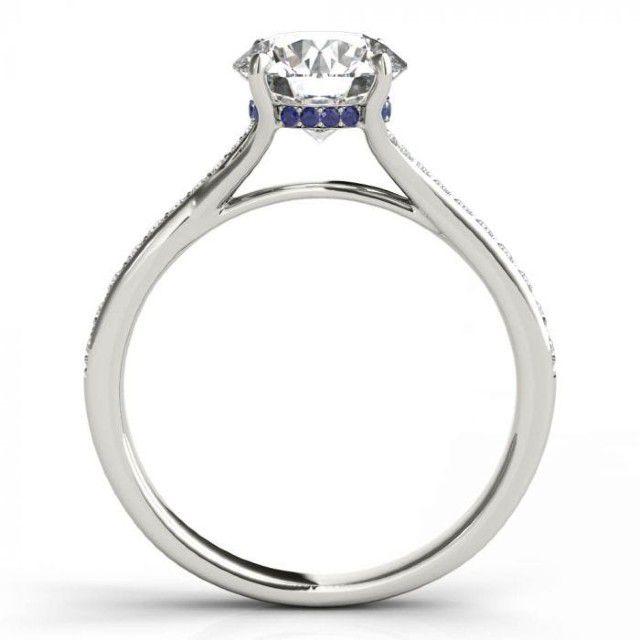 hidden sapphire halo ring