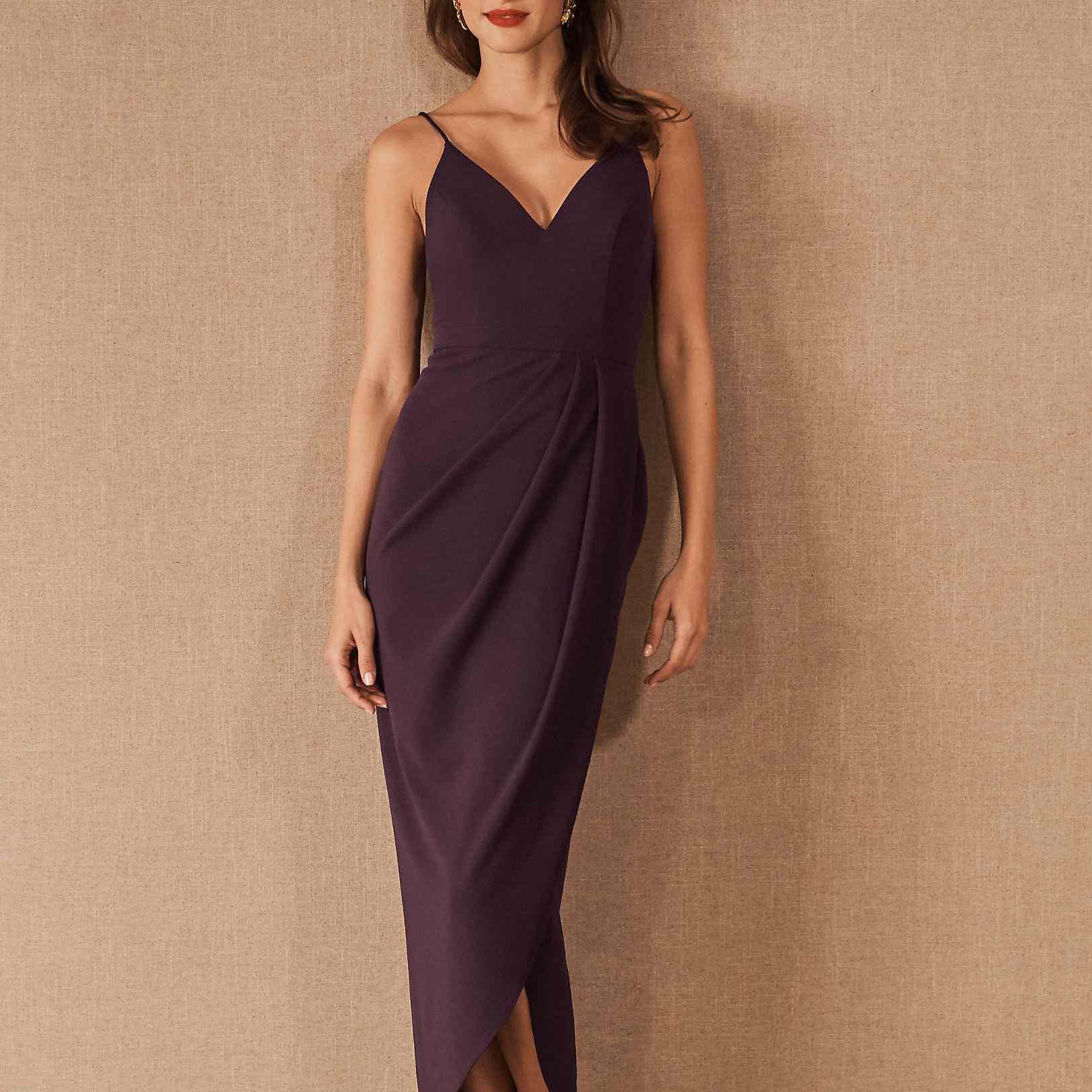 21 Ultra Stylish Plum Bridesmaid Dresses