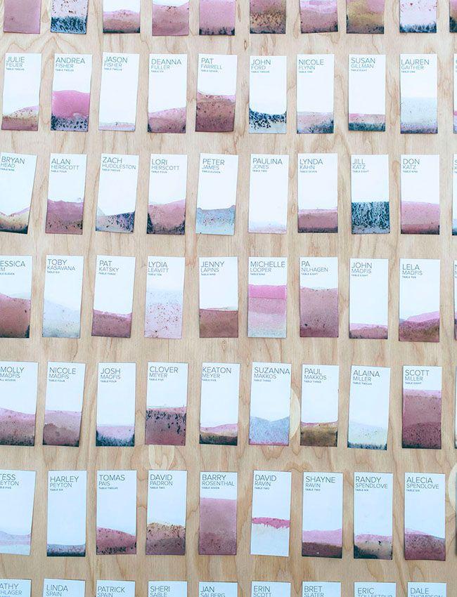 DIY Dip-Dyed Escort Cards