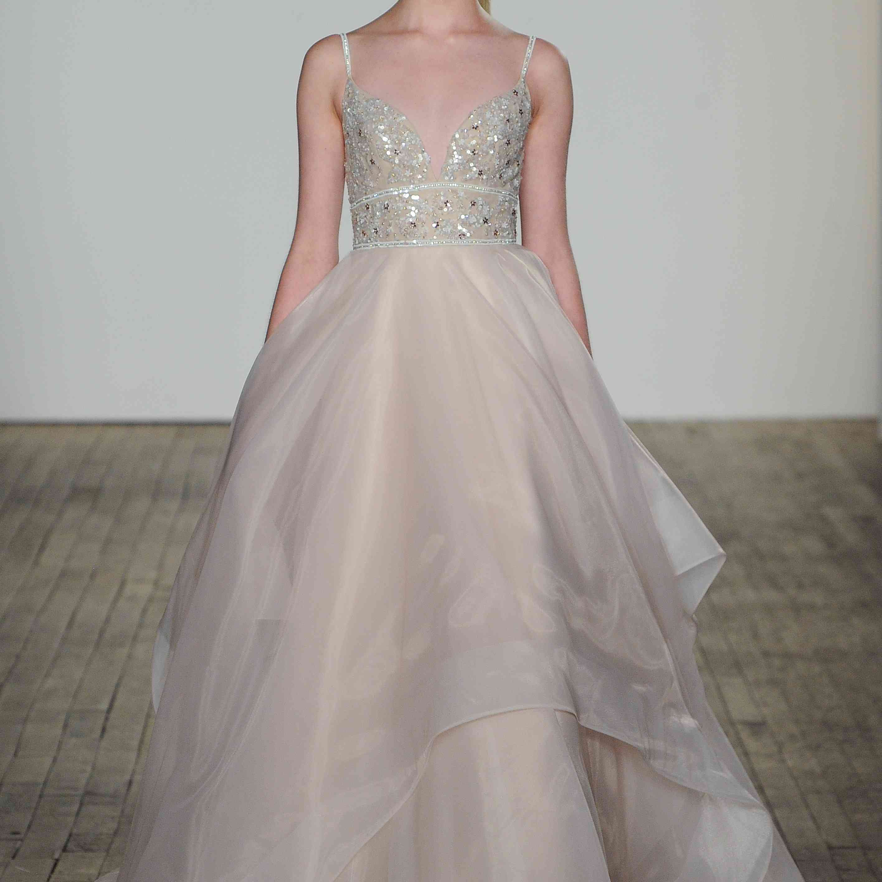 Pheonix blush sleeveless wedding gown