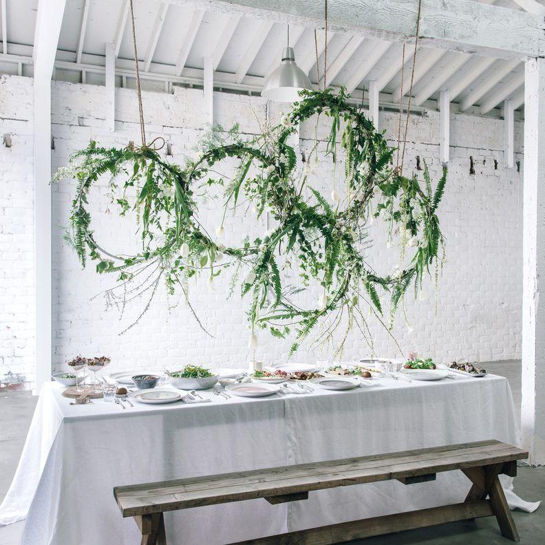 <p>greenery wreath installation</p><br><br>