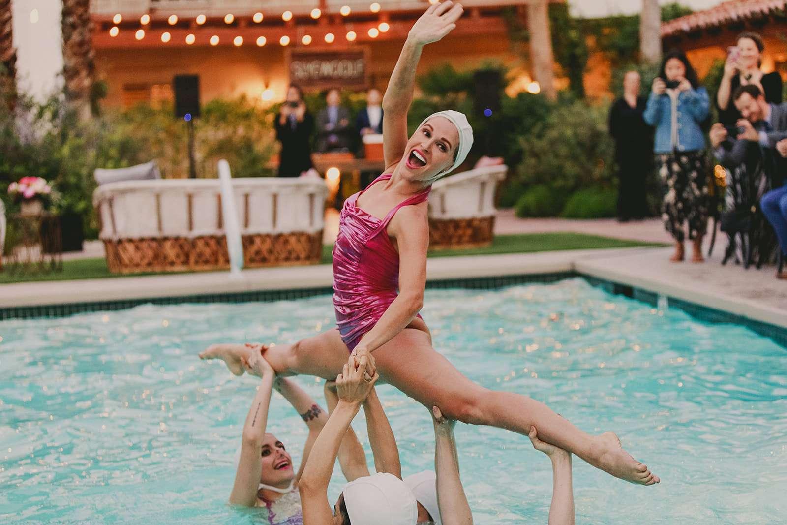 wedding entertainment synchronized swimmers