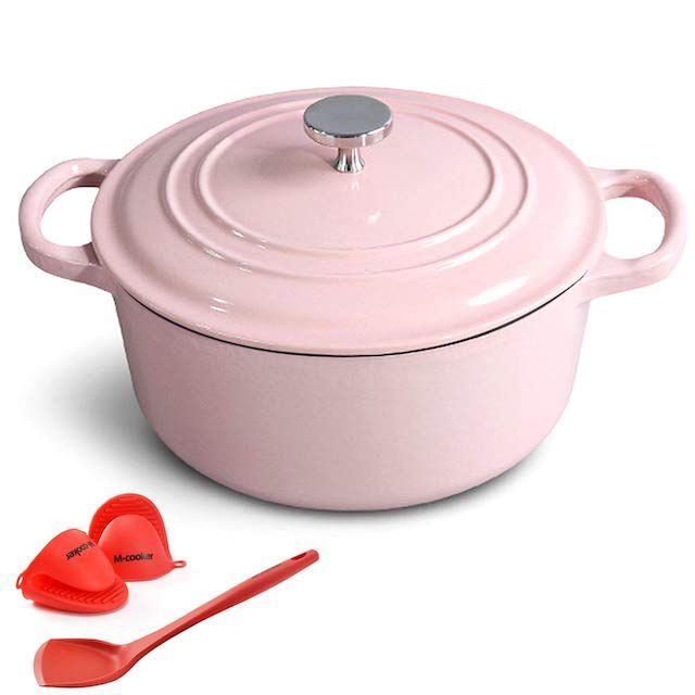 M-cooker Self-Basting Enameled Dutch Oven