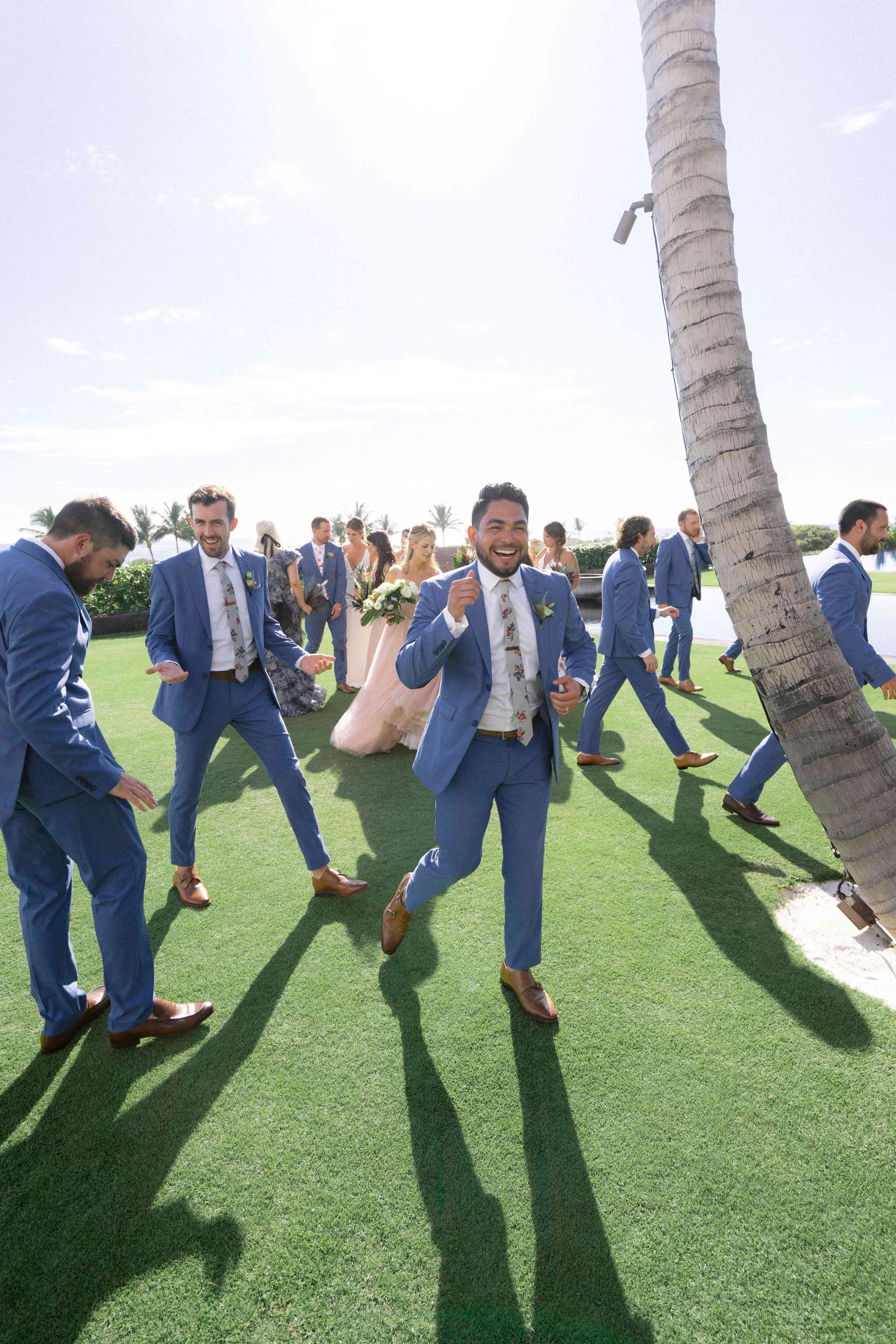 A candid of the groomsmen