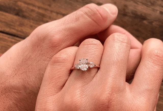 Vanessa Grimaldi, Josh Wolfe, engagement rings