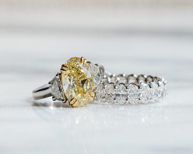 Hannah Florman Custom Yellow Diamond Engagement Ring