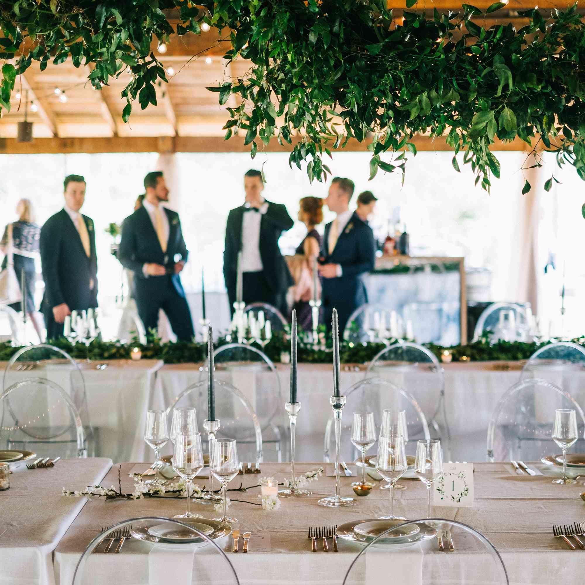 Greenery-inspired reception venue