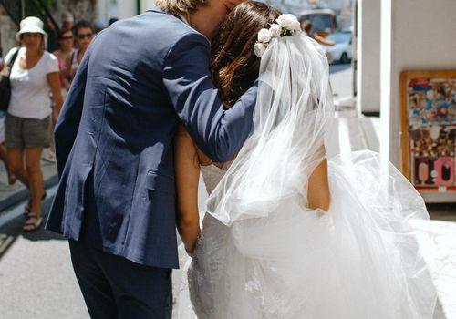 Bride and Groom in Capri