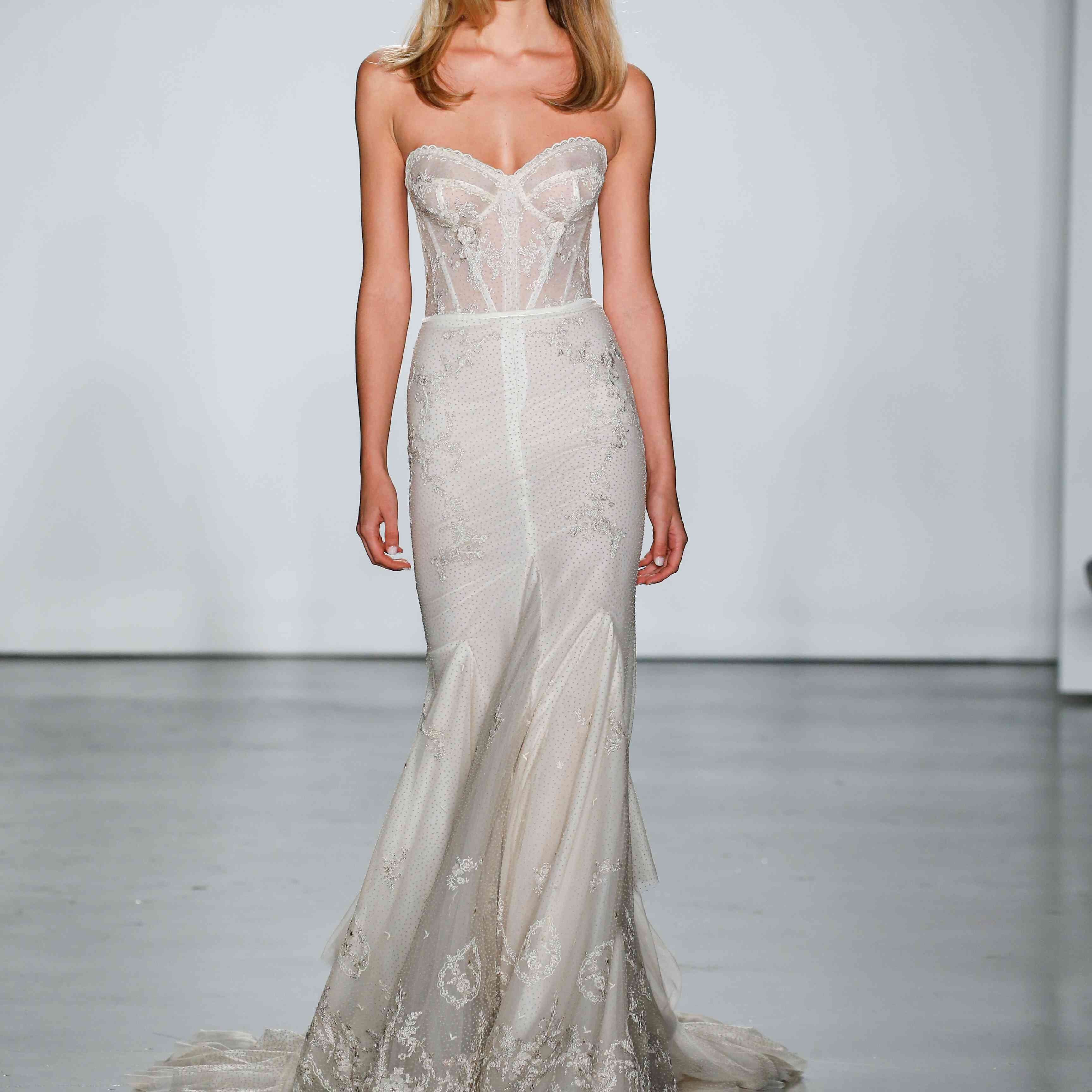 Model in vintage Inbal Dror VIP wedding dress