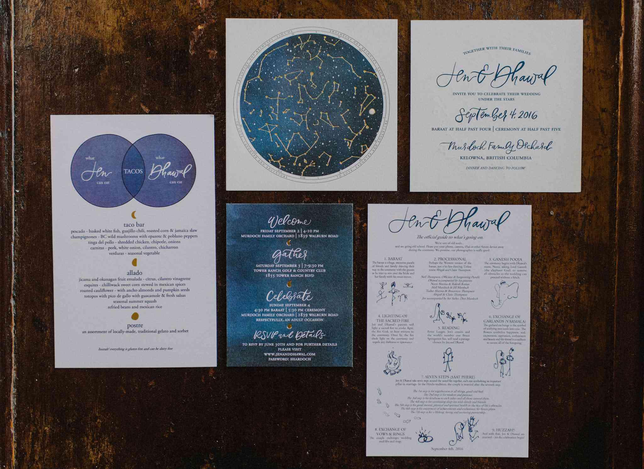 Constellation-inspired invites