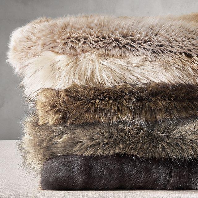 Restoration Hardware Ultimate Faux Fur Throw