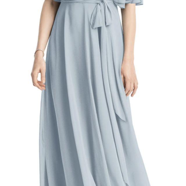 Jenny Packham Cold Shoulder Chiffon Gown