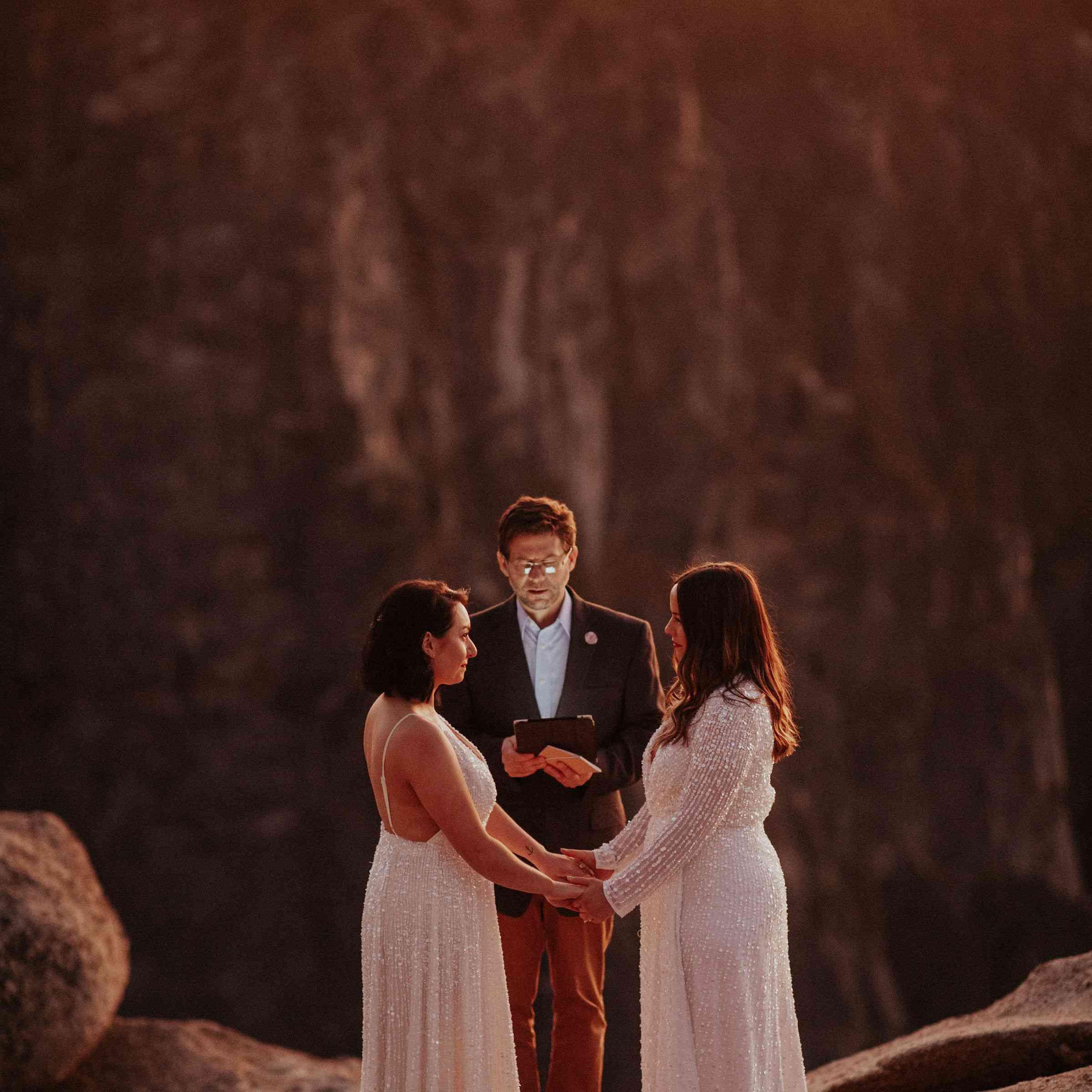 two brides eloping