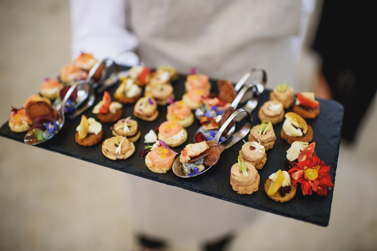 Wedding appetizers