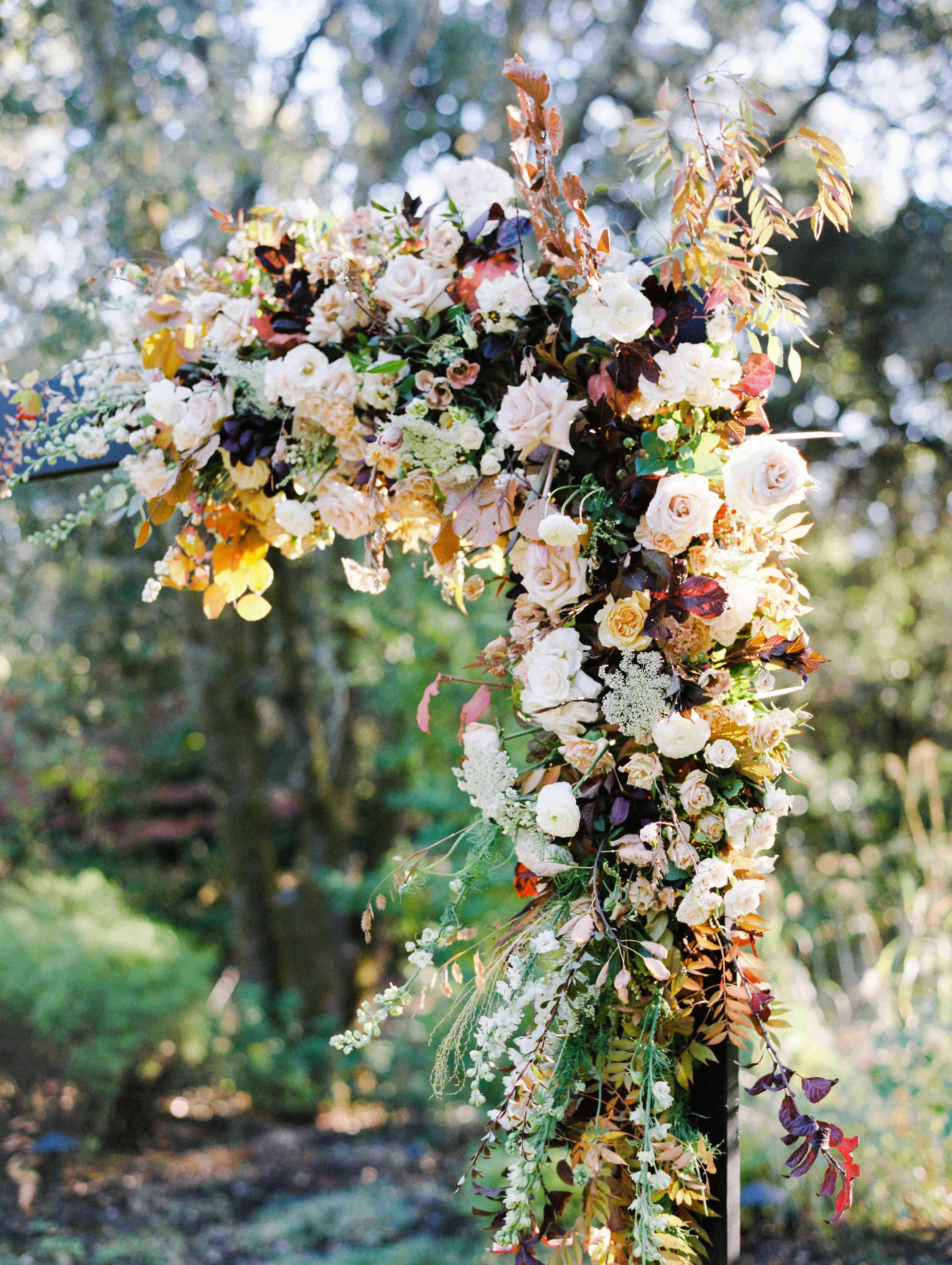 wedding altar florals