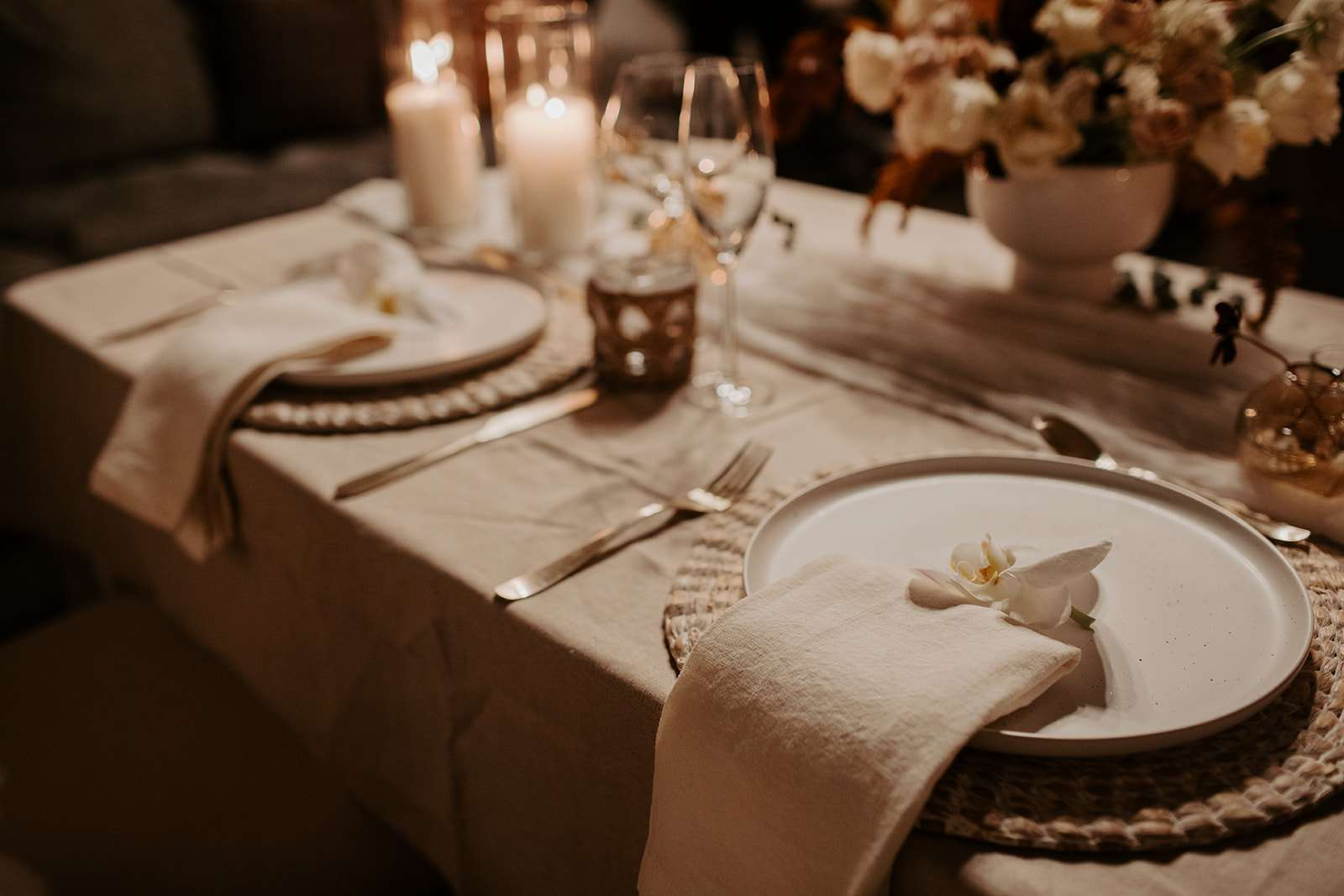 The reception tablescape